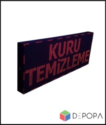 32x160 CM KIRMIZI KAYAN YAZI - Thumbnail