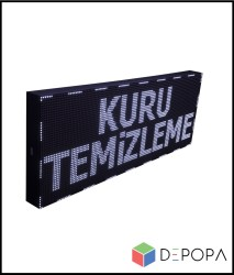 32x96 CM BEYAZ-YEŞİL-SARI-MAVİ TEK RENK KAYAN YAZI - Thumbnail
