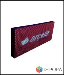 48x160 CM FULL RENK RGB KAYAN YAZI - Thumbnail