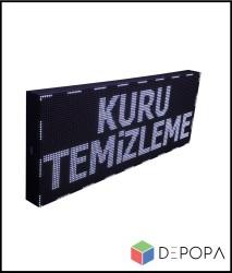 80x64 CM BEYAZ-YEŞİL-SARI-MAVİ TEK RENK KAYAN YAZI - Thumbnail