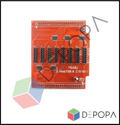 HD HUB75B-8 (Kırmızı) Kontrol Kartı Hubı
